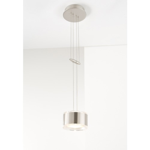 Holtkoetter Lighting Holtkoetter Lighting Chrome Mini-Pendant Light with Drum Shade 5701 CH GB60