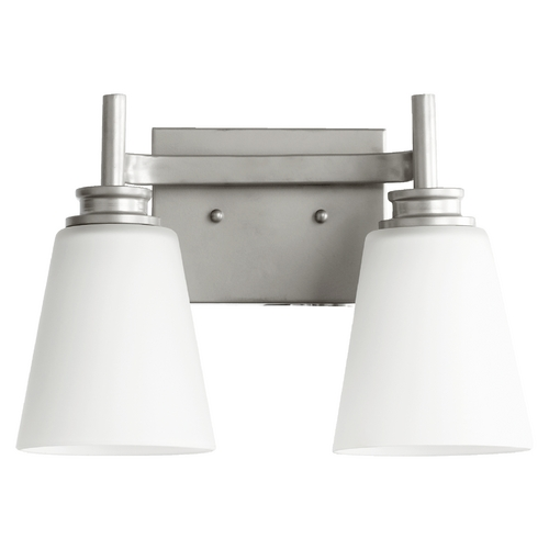 Quorum Lighting Quorum Lighting Chateaux Classic Nickel Bathroom Light 5002-2-64