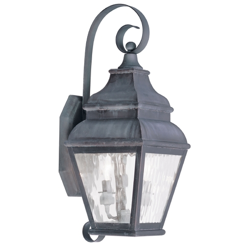 Livex Lighting Livex Lighting Exeter Charcoal Outdoor Wall Light 2602-61