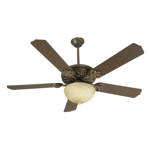 Craftmade Lighting Craftmade Lighting Cecilia Unipack Aged Bronze Textured Ceiling Fan with Light K10617
