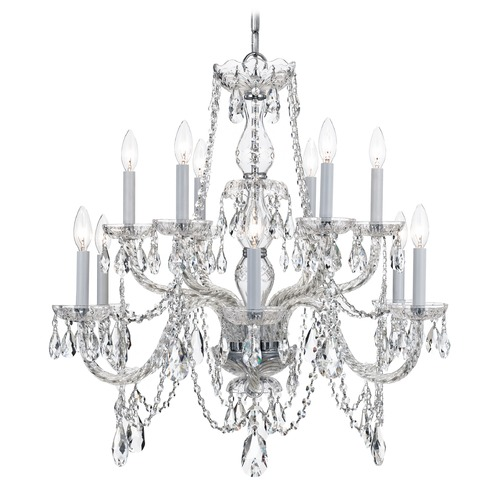 Crystorama Lighting Crystorama Lighting Traditional Crystal Polished Chrome Chandelier 1135-CH-CL-I