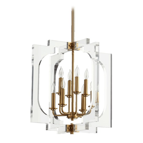 Quorum Lighting Quorum Lighting Broadway Aged Brass Pendant Light 605-8-80