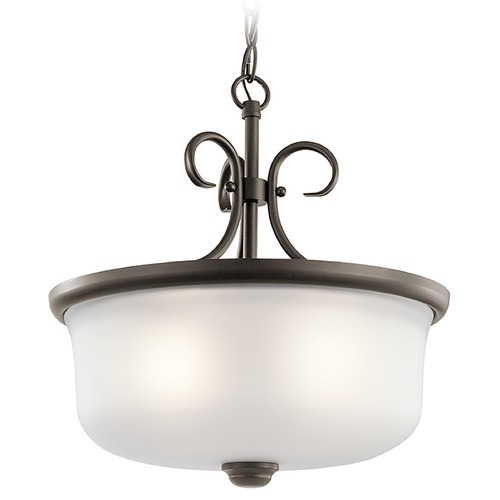 Kichler Lighting Kichler Lighting Bixler Olde Bronze Pendant Light with Drum Shade 43942OZ