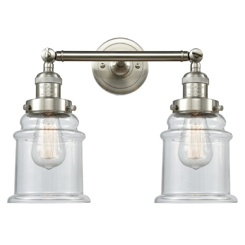 Innovations Lighting Innovations Lighting Canton Brushed Satin Nickel Bathroom Light 208-SN-G182