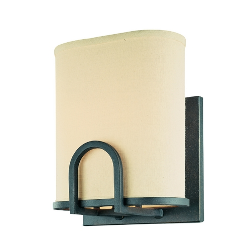 Troy Lighting Sconce Wall Light with Beige / Cream Shades in Federal Bronze Finish B1801FBZ