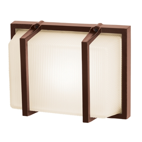 Access Lighting Outdoor Wall Light with White Glass in Bronze Finish 20335MG-BRZ/RFR