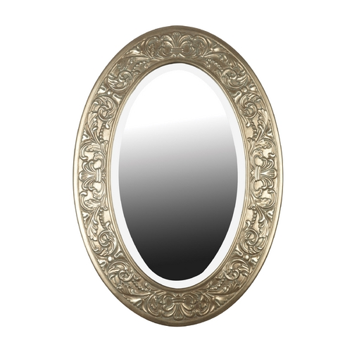 Kenroy Home Lighting Argento Oval 28-Inch Mirror 60026