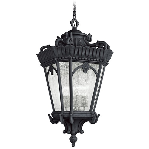 Kichler Lighting Kichler Black Outdoor Hanging Light with Clear Glass 9564BKT