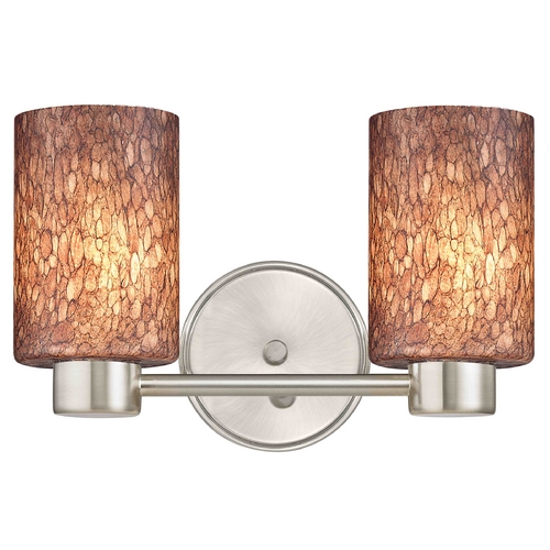 Design Classics Lighting Aon Fuse Modern Satin Nickel Bathroom Light with Cylinder Glass 1802-09 GL1016C