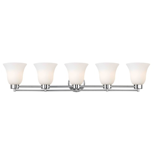Design Classics Lighting Chrome Bathroom Light 706-26 GL9222-WH
