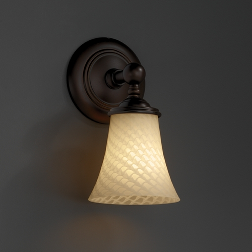 Justice Design Group Justice Design Group Fusion Collection Sconce FSN-8521-20-WEVE-DBRZ