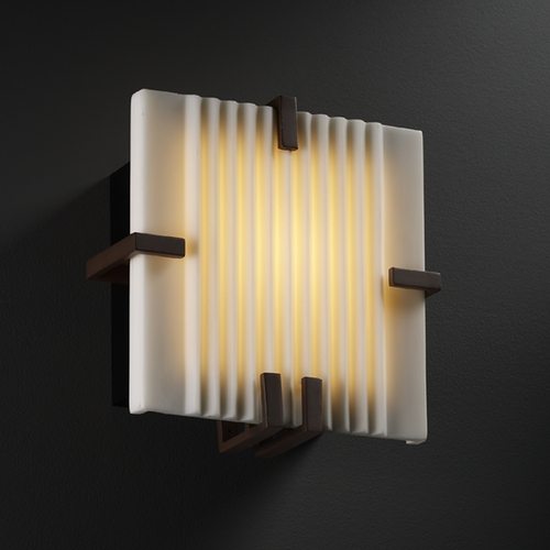Justice Design Group Justice Design Group Porcelina Collection Sconce PNA-5550-PLET-DBRZ
