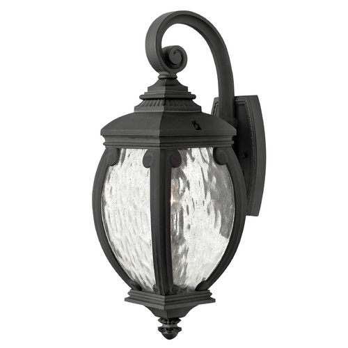 Hinkley Lighting Outdoor Wall Light with Clear Glass in Museum Black Finish 1940MB