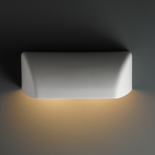 Justice Design Group Outdoor Wall Light in Matte White Finish CER-2950W-MAT