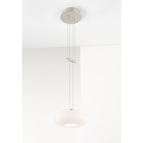 Holtkoetter Lighting Holtkoetter Lighting Chrome Mini-Pendant Light with Oval Shade 5701 CH G5701