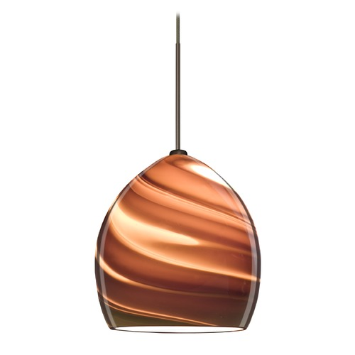 Besa Lighting Besa Lighting Sprite Bronze Mini-Pendant Light with Bell Shade 1XT-1716SK-BR