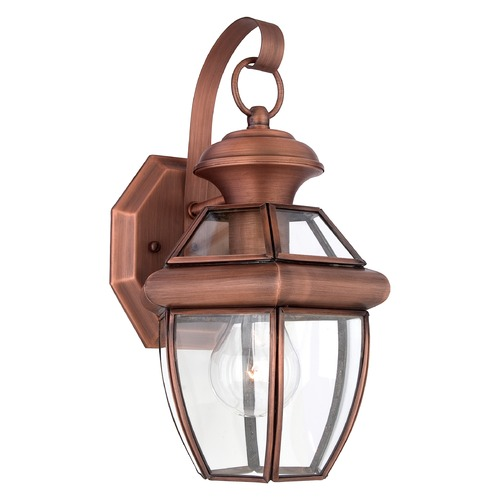 Quoizel Lighting Quoizel Newbury Aged Copper Outdoor Wall Light NY8315ACFL