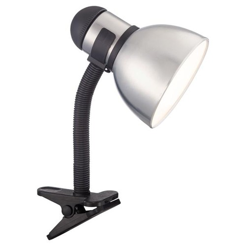 Satco Lighting Satco Energy Efficient Steel / Black Clamp Desk Lamp 57/057