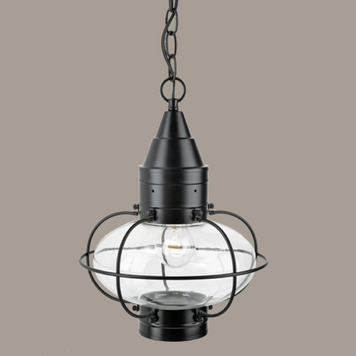 Norwell Lighting Norwell Lighting Classic Onion Black Outdoor Hanging Light 1508-BL-CL