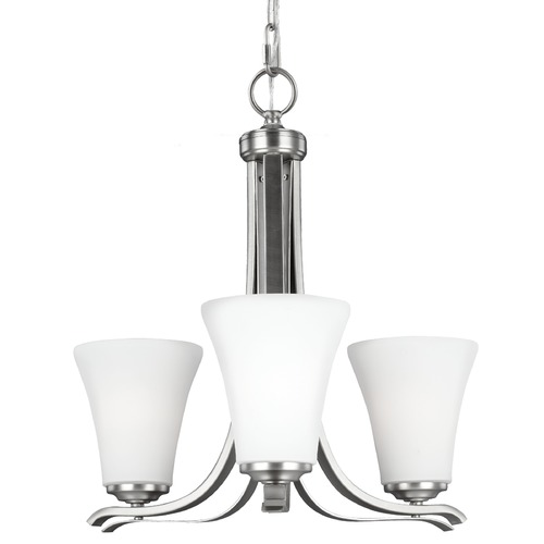 Feiss Lighting Feiss Lighting Summerdale Satin Nickel Chandelier F2977/3SN