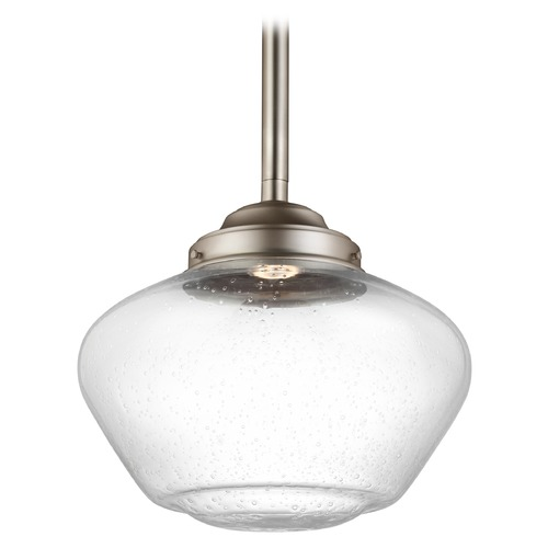 Feiss Lighting Feiss Lighting Alcott Satin Nickel LED Pendant Light P1388SN-LED