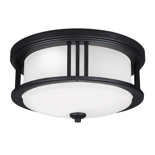 Sea Gull Lighting Sea Gull Crowell Black LED Close To Ceiling Light 7847991S-12