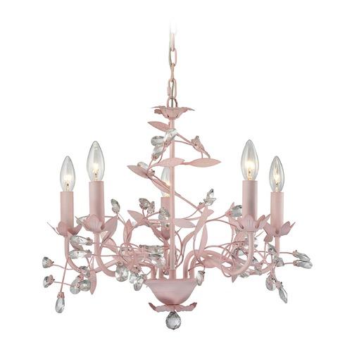 Elk Lighting Elk Lighting Circeo Light Pink Mini-Chandelier 18153/5