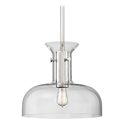 Hudson Valley Lighting Hudson Valley Lighting Coffey Polished Nickel Pendant Light with Coolie Shade 7916-PN