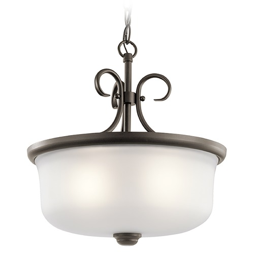 Kichler Lighting Kichler Lighting Bixler Olde Bronze LED Pendant Light with Drum Shade 43942OZL16