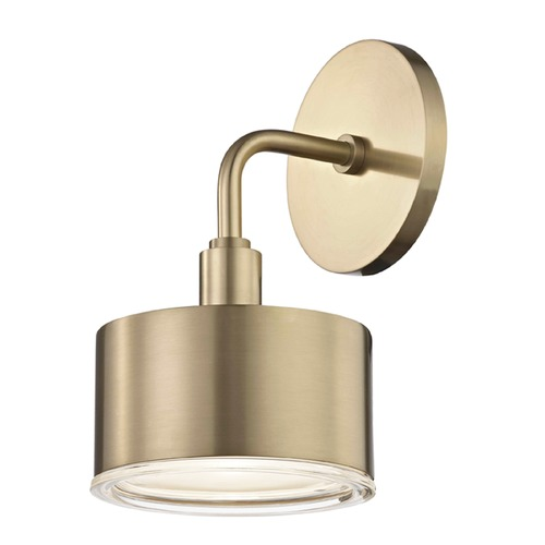 Mitzi by Hudson Valley Mid-Century Modern LED Sconce Brass Mitzi Nora by Hudson Valley H159101-AGB