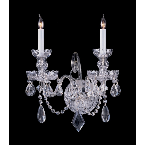 Crystorama Lighting Crystal Sconce Wall Light in Polished Chrome Finish 1142-CH-CL-MWP