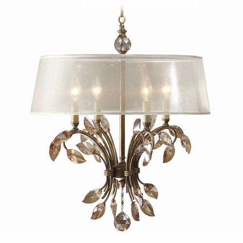 Uttermost Lighting Uttermost Alenya 4 Light Gold Metal Chandelier 21245