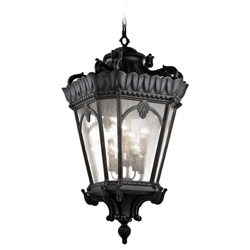 Kichler Lighting Kichler Black Outdoor Hanging Light with Clear Glass 9568BKT