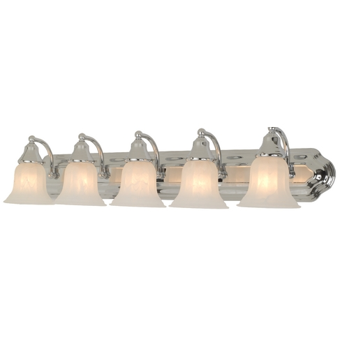 Design Classics Lighting Five-Light Bathroom Vanity Light 570-26