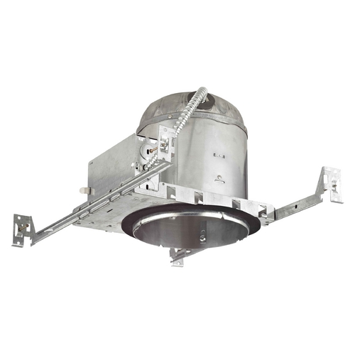 Recesso Lighting by Dolan Designs 6-Inch New Construction E26 Recessed Can Light IC & Airtight Flat Ceiling IC6