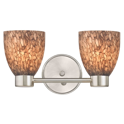 Design Classics Lighting Aon Fuse Art Glass Satin Nickel Bathroom Light with Bell Glass 1802-09 GL1016MB