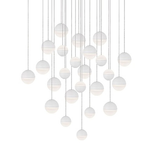 Kuzco Lighting Kuzco Matte White LED Multi-Light Pendant MP10524-WH