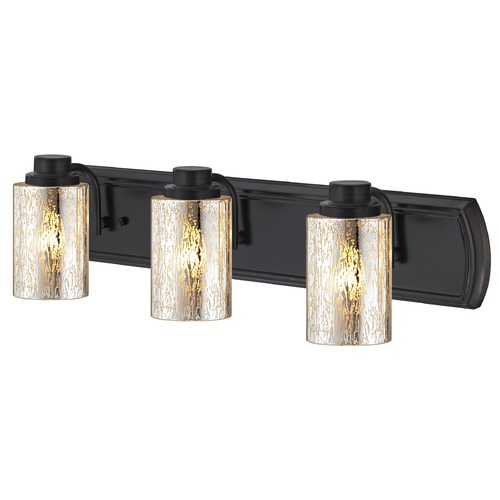Design Classics Lighting Industrial Mercury Glass 3-Light Bath Wall Light in Bronze 1203-36 GL1039C