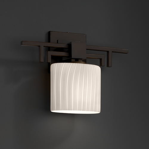 Justice Design Group Justice Design Group Fusion Collection Sconce FSN-8711-30-RBON-DBRZ