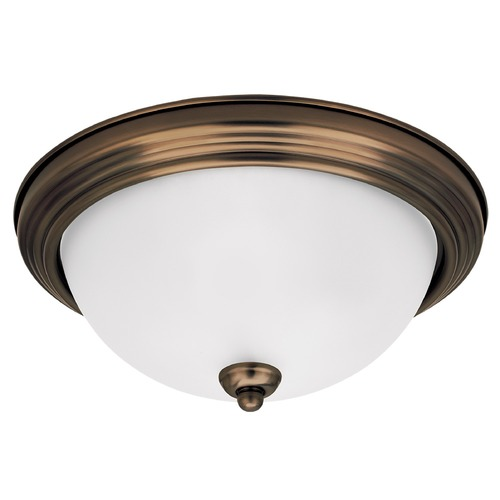 Sea Gull Lighting Sea Gull Lighting Ceiling Flush Mount Russet Bronze LED Flushmount Light 77063S-829