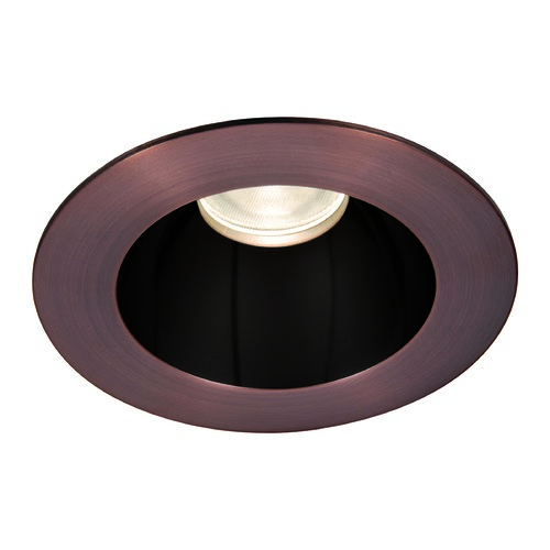 WAC Lighting WAC Lighting Round Black Copper Bronze 3.5-Inch LED Recessed Trim 3000K 1174LM 55 Degree HR3LEDT118PF830BCB