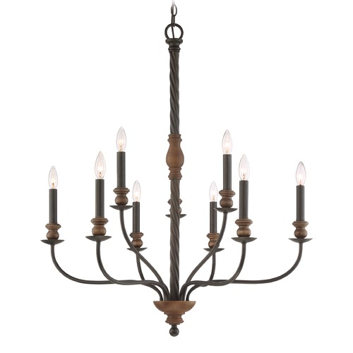 Quoizel Lighting Quoizel Lighting Odell Imperial Bronze Chandelier ODL5009IB