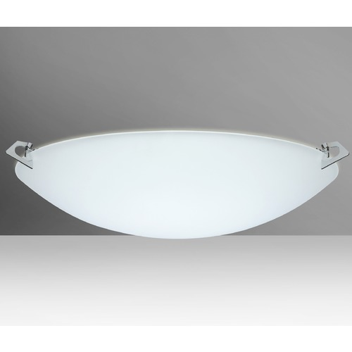 Besa Lighting Besa Lighting Sonya Frosted Glass Polished Nickel Flushmount Light 841925-PN