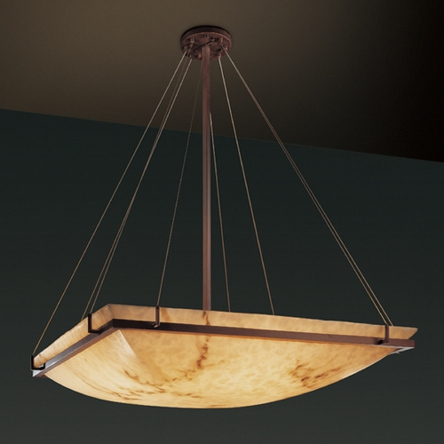 Justice Design Group Justice Design Group Lumenaria Collection Pendant Light FAL-9794-25-DBRZ