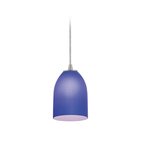 Access Lighting Modern Mini-Pendant Light with Blue Glass 28018-2C-BS/COB