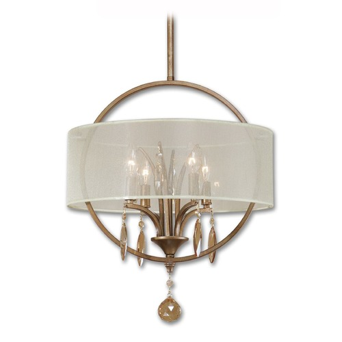 Uttermost Lighting Uttermost Alenya 4 Light Fabric Drum Pendant 21962