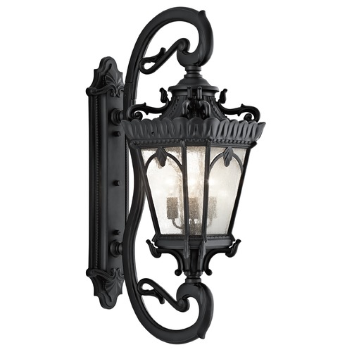 Kichler Lighting Kichler Outdoor Wall Light with Clear Glass in Textured Black Finish 9360BKT
