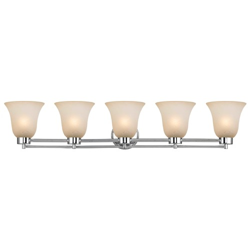 Design Classics Lighting Design Classics Salida Fuse Chrome Bathroom Light 706-26 GL9222-CAR