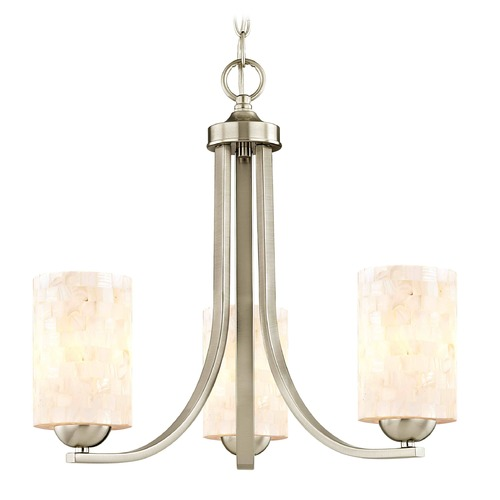 Design Classics Lighting Design Classics Dalton Fuse Satin Nickel Mini-Chandelier 5843-09 GL1026C