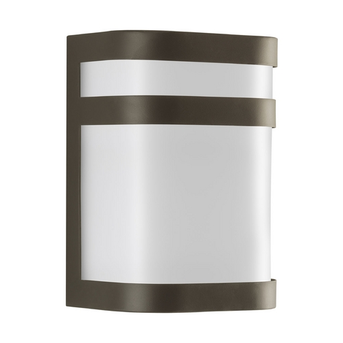Progress Lighting Progress Modern Outdoor Wall Light with White in Antique Bronze Finish P5800-20